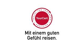 Tourcert Zertifizierungs Siegel und Slogan