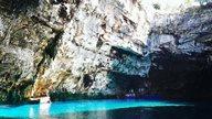 Melissani Höhle mit See auf Kefalonia