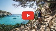 Youtube Video über Menorca mit Play Button