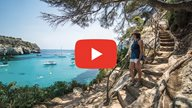 Youtube Video über Menorca mit Play Button